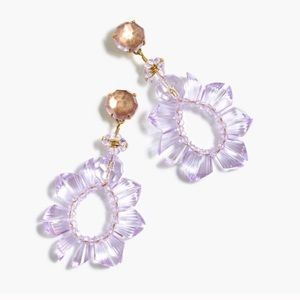 J. Crew Wreath Earrings Lilac Lavender Purple Bead